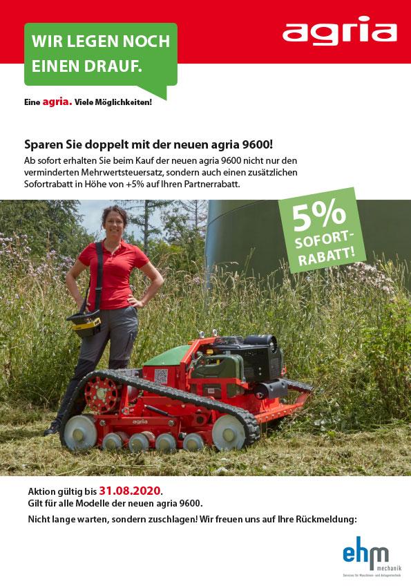 Agria Aktion: 5% Sofort-Rabatt