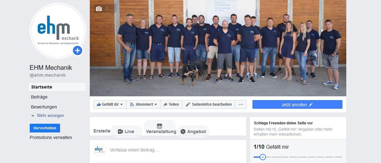 EHM-Mechanik Jetzt Auch Auf Facebook